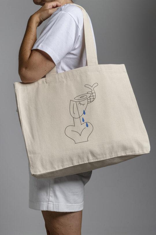Large street tote bag 155