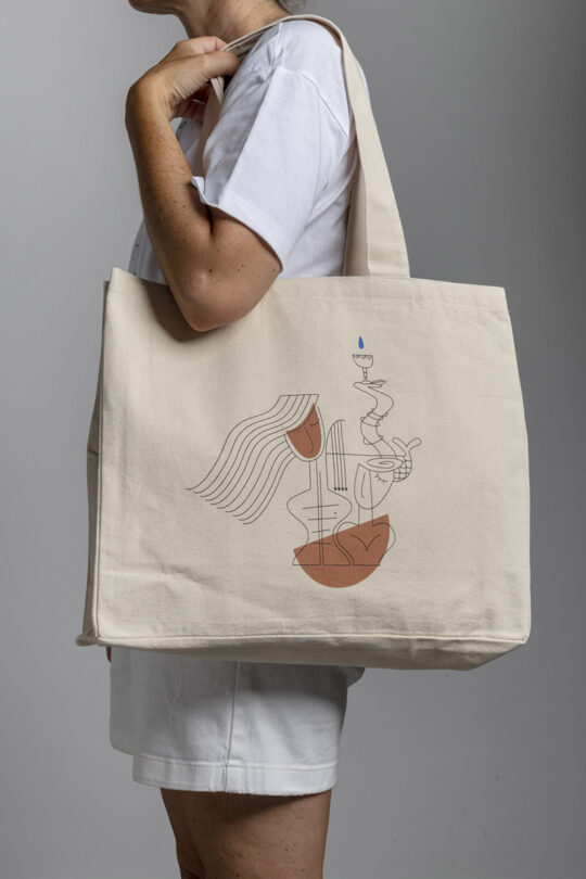 Large street tote bag 158