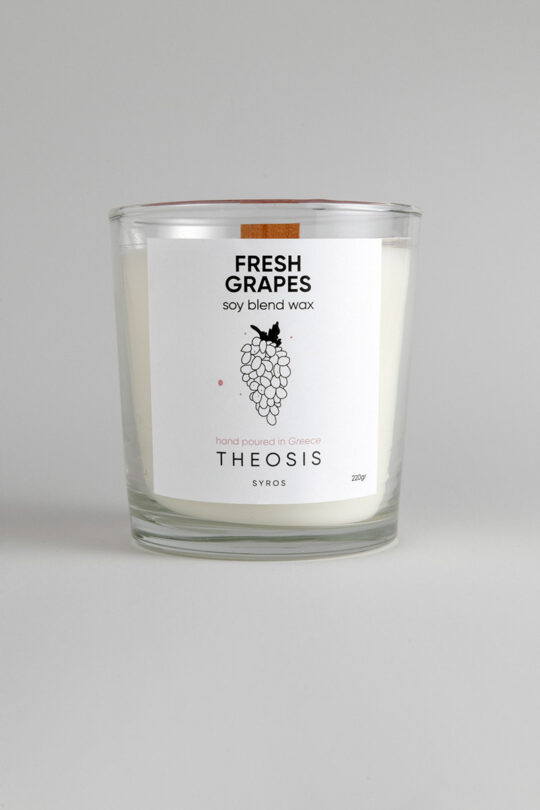 candle fresh grapes